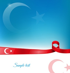 turkey ribbon flag background vector image vector image
