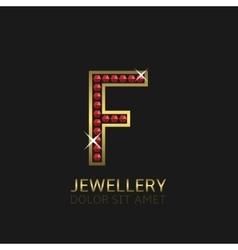 Golden Letter F vector image vector image