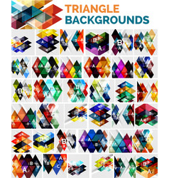 Mega collection of triangle backgrounds vector