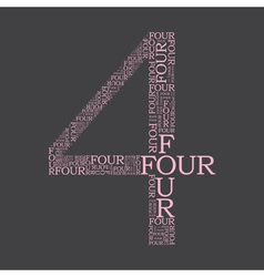 number four created from text vector image vector image