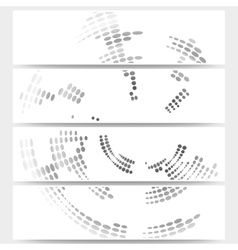 Web banners set of header layout templates circle vector image vector image