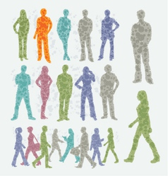Abstract people silhouettes vector image vector image