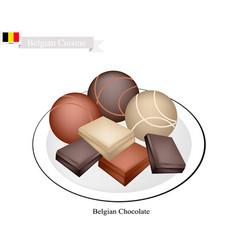 belgian chocolate a famous dessert of belgium vector image