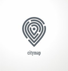 City map creative symbol concept vector image vector image