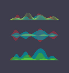 colored sound wave digital equalizer vector image vector image