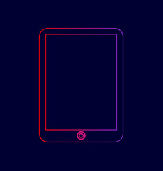 computer tablet sign line icon with vector image