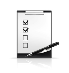 Pen and check boxes vector
