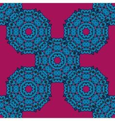 Violet ethnic mandala pattern background vector image