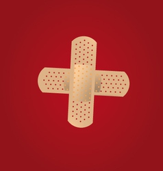 adhesive bandages vector image vector image