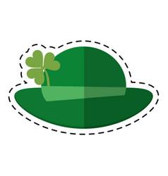 cartoon st patricks day leprechaun hat clover vector image