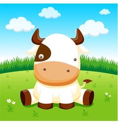 Cow in farm vector