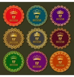 Decorative ornate golden frames vector image