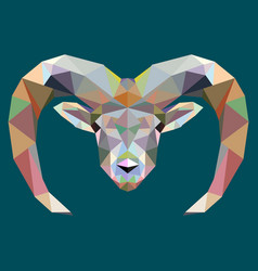 drawing polygon moose deer vector image
