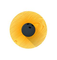 flat color bowling ball vector image vector image