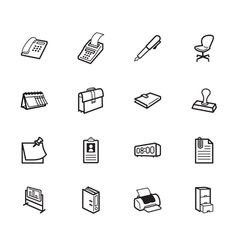 office element black icon set on white background vector image