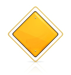 Priority road sign vector image
