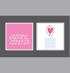 set creative postcards vector image vector image