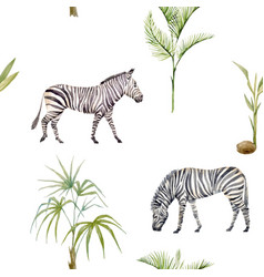 watercolor afriacnan pattern vector image vector image