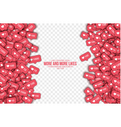 3d like counter icons abstract background vector image