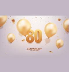 80th anniversary celebration vector image