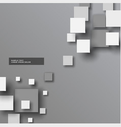 abstract gray 3d squares background vector image