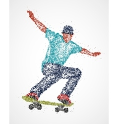 Abstract skateboarder athlete vector