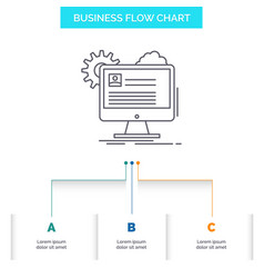 account profile report edit update business flow vector image