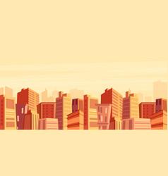 Beautiful big city view vector