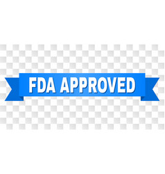 blue stripe with fda approved title vector image