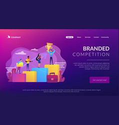 branded competition concept landing page vector image