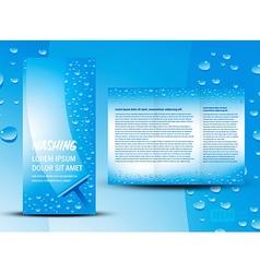 Brochure folder washing design cmyk no transparen vector