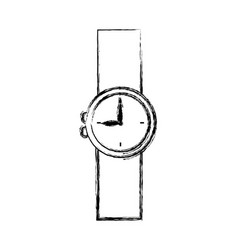 Cartoon wrist watch clock hour timer vector