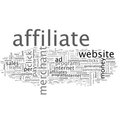 Cash and pay per click affiliate programs vector