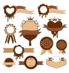 Chocolate decorative elements vector image