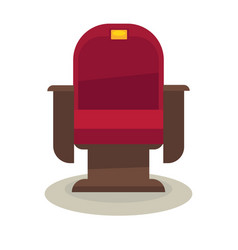 Cinema or theatre chair with velvet lining vector