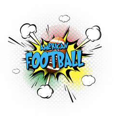 Comic bang with expression text american football vector