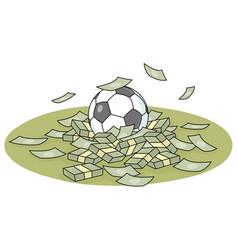 Corrupt football championship vector