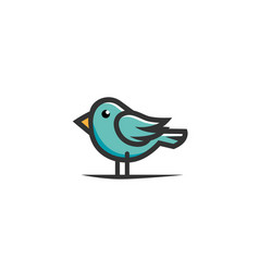creative blue bird logo vector image