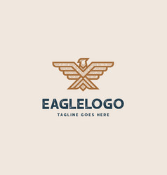 creative professional eagle logo design eagle vector image