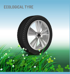 Ecological tyre image vector