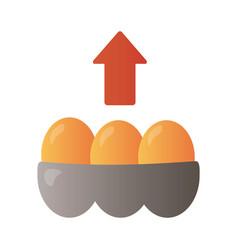 eggs basket with arrow up infographic degradient vector image