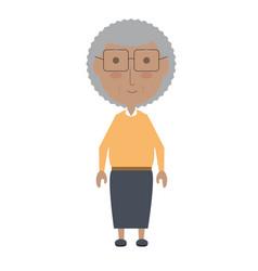 Elderly woman icon vector