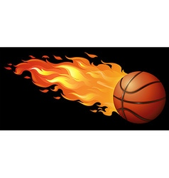 Fire basketball vector