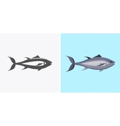 Fish Icon Design Flat Isolated vector