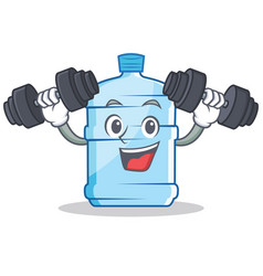 Fitness gallon character cartoon style vector