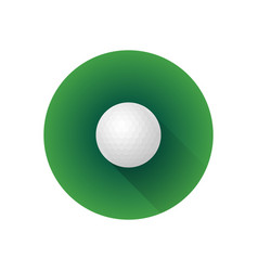 Flat color golf ball vector
