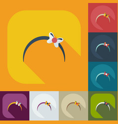 Flat modern design with shadow icons bijouterie vector