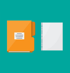 Folder for correspondence and file for document vector