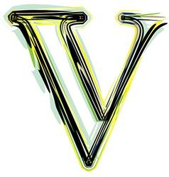font letter V vector image
