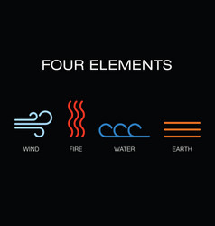 four elements icon vector image